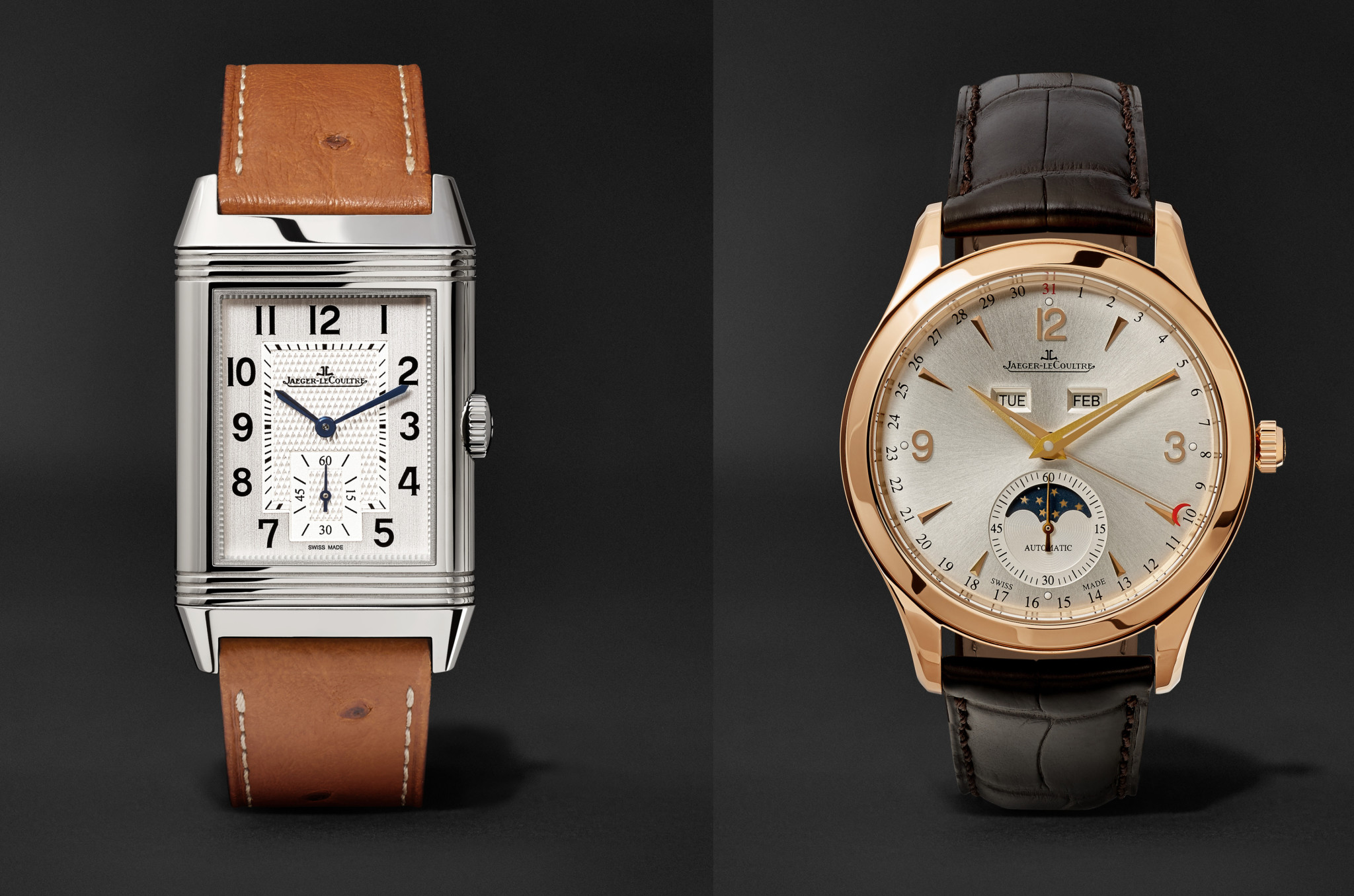 Prices range from £5250 for an entry level steel Reverso Classic Large Duoface up to £18,500 for an 18ct gold Master Calendar.