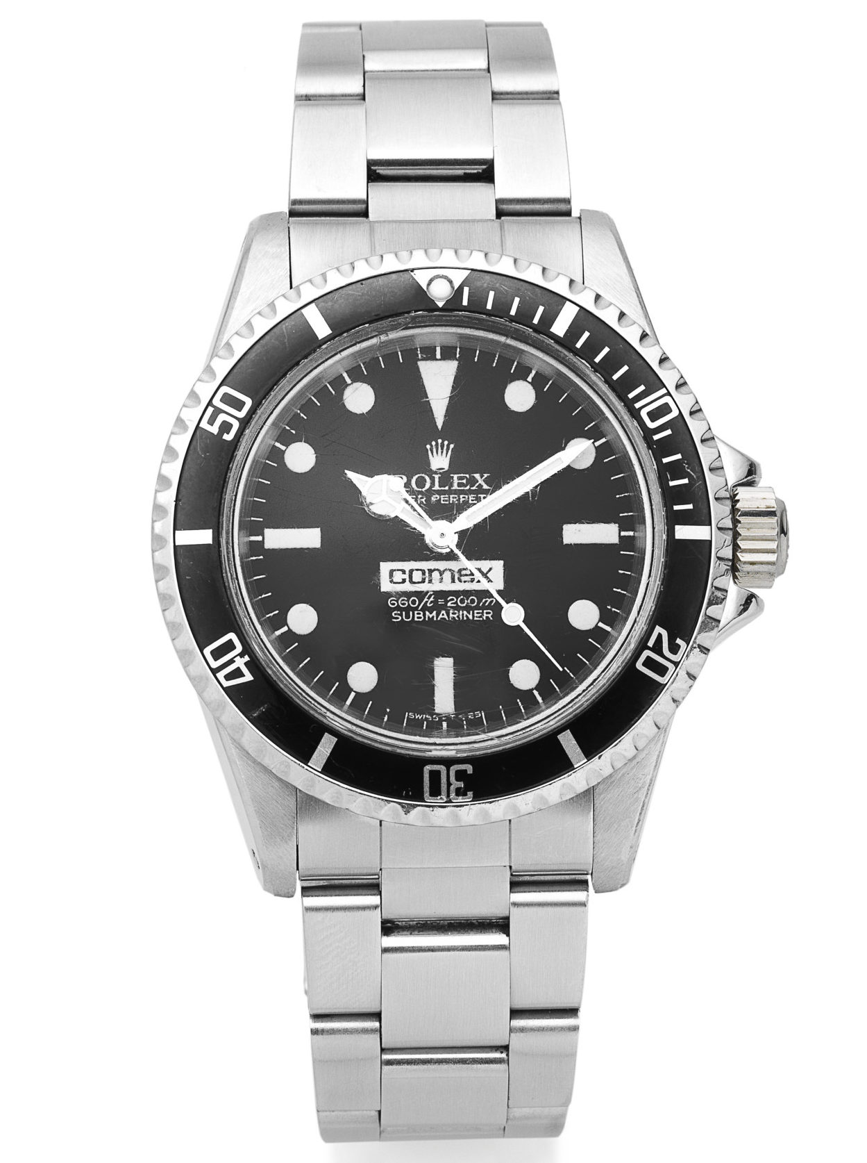 Rolex. A rare stainless steel automatic divers bracelet watch made for Comex Submariner Comex