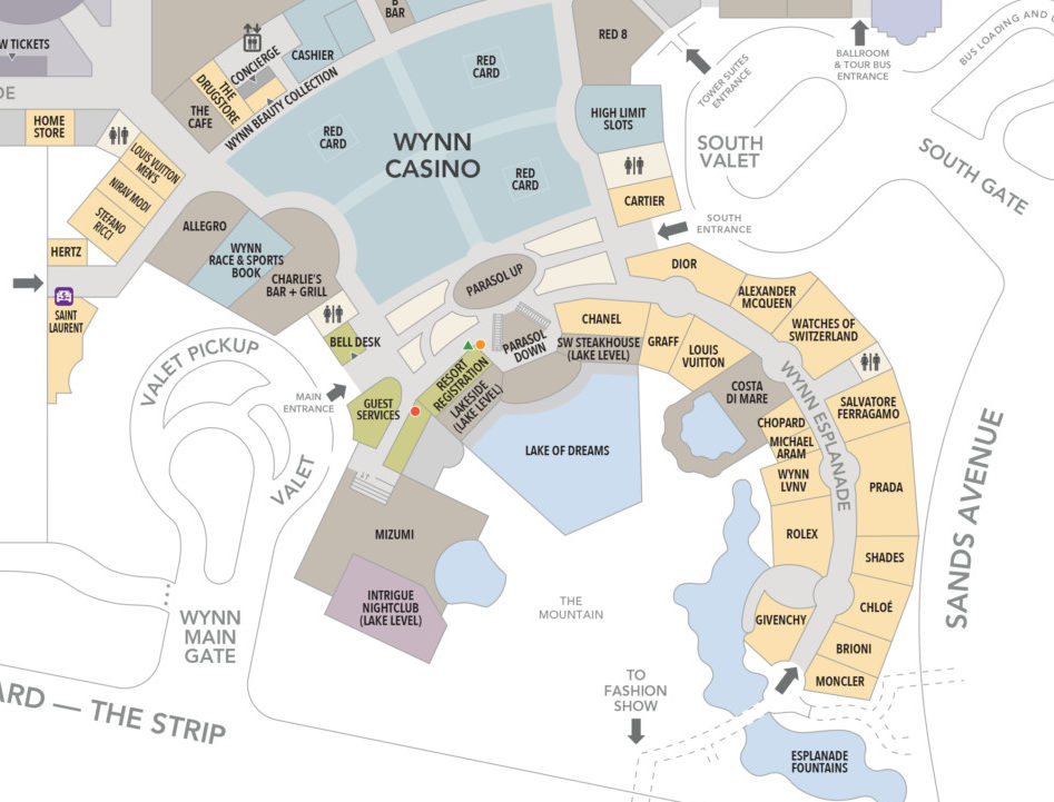 Watches of Switzerland has already appeared on the Wynn Resort map.
