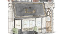 An artist sketch of the Mount Street showroom is an accurate depiction of the now-open Pragnell boutique.