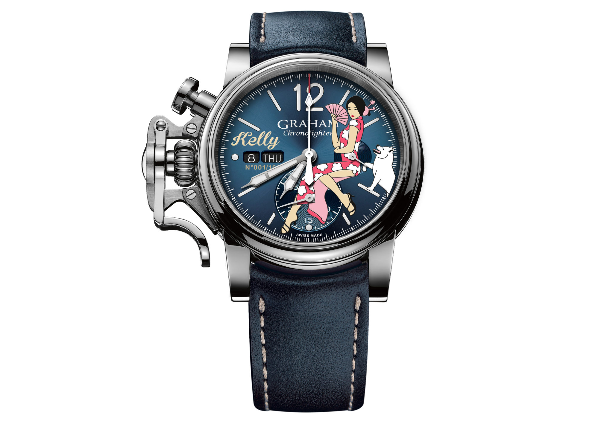 GRAHAM Chronofighter Vintage Nose Art – Kelly 2CVAS.U08A.L129S