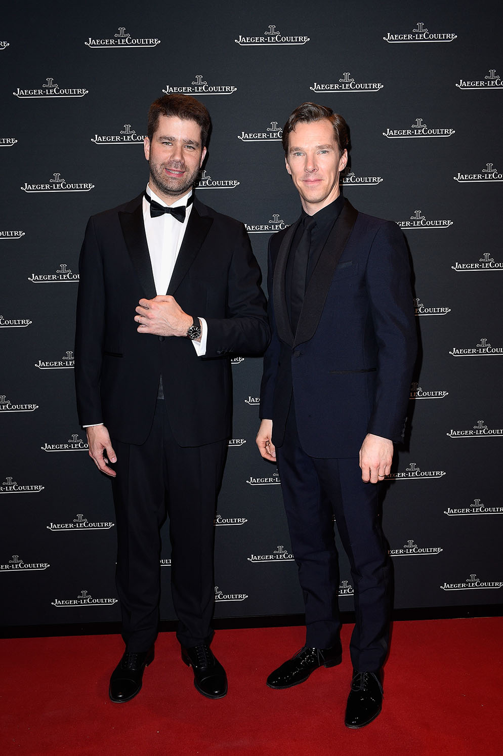 LES ACACIAS, SWITZERLAND - JANUARY 15:  Benedict Cumberbatch (R) and Geoffroy Lefebvre attend Jaeger-LeCoultre Polaris Gala Evening at the SIHH 2018 at Pavillon Sicli on January 15, 2018 in Les Acacias, Switzerland.  (Photo by Kristy Sparow/Getty Images for Jaeger-LeCoultre) *** Local Caption *** Benedict Cumberbatch; Geoffroy Lefebvre