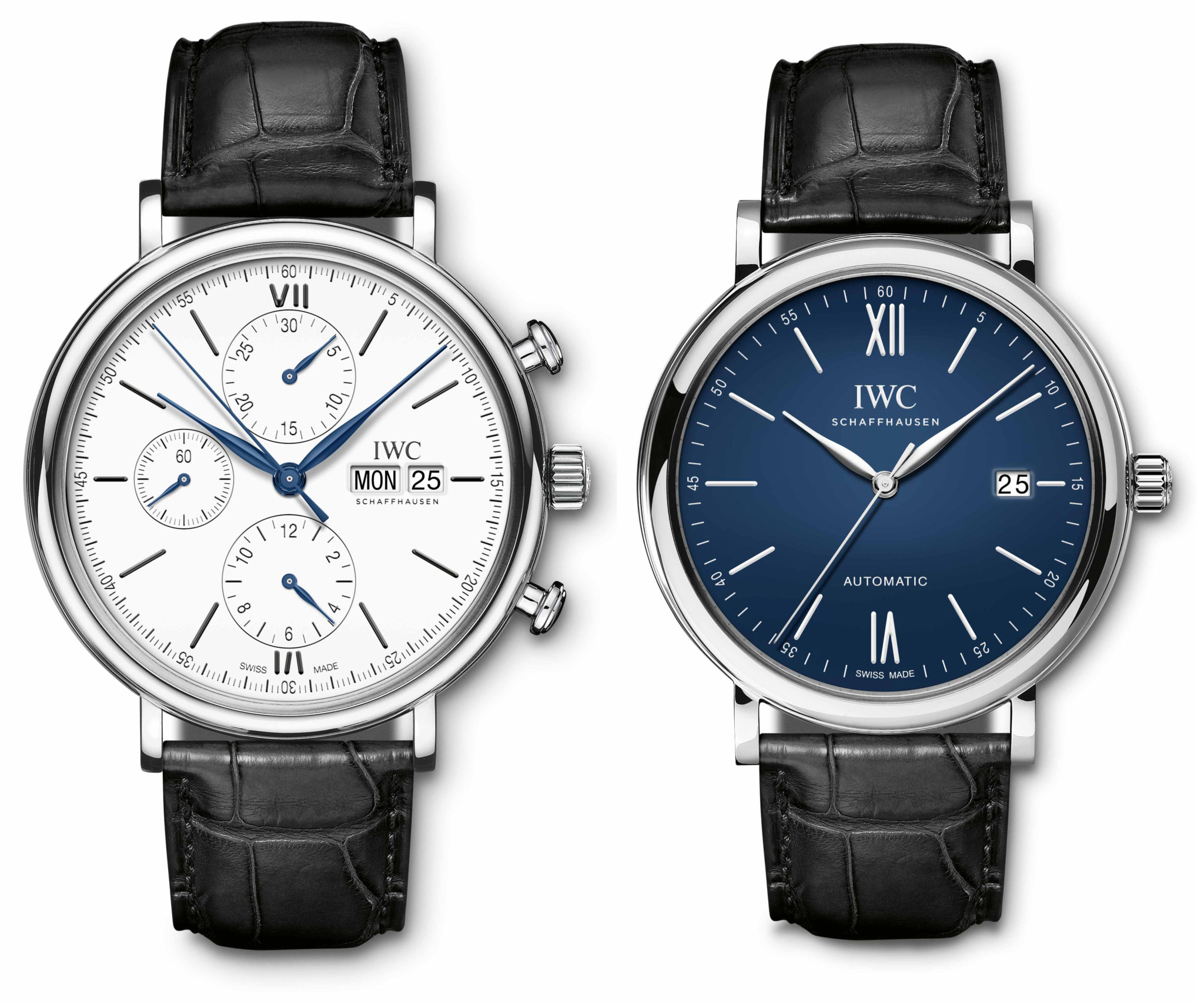 f5f8ba414dd IWC is taking a highly commercial approach to the limited editions in its  150th Jubilee collections. Nothing sells faster than round white and blue  dials.