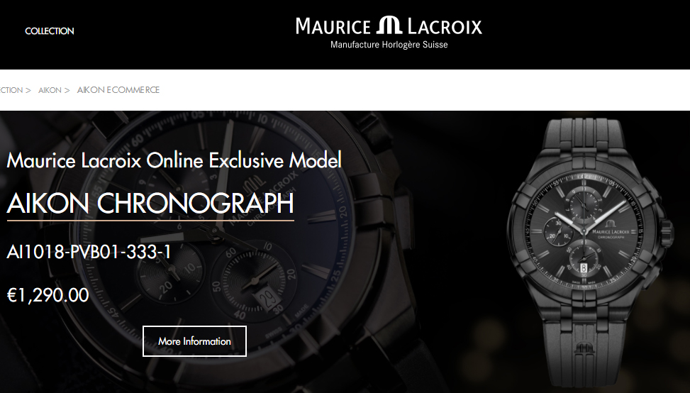 Maurice Lacroix ecommerce