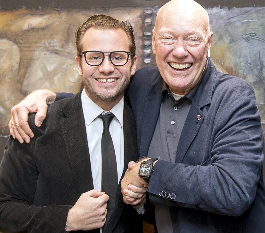 TAGHeuer_George Bamford and Jean-Claude Biver wearing the Monaco Bamford