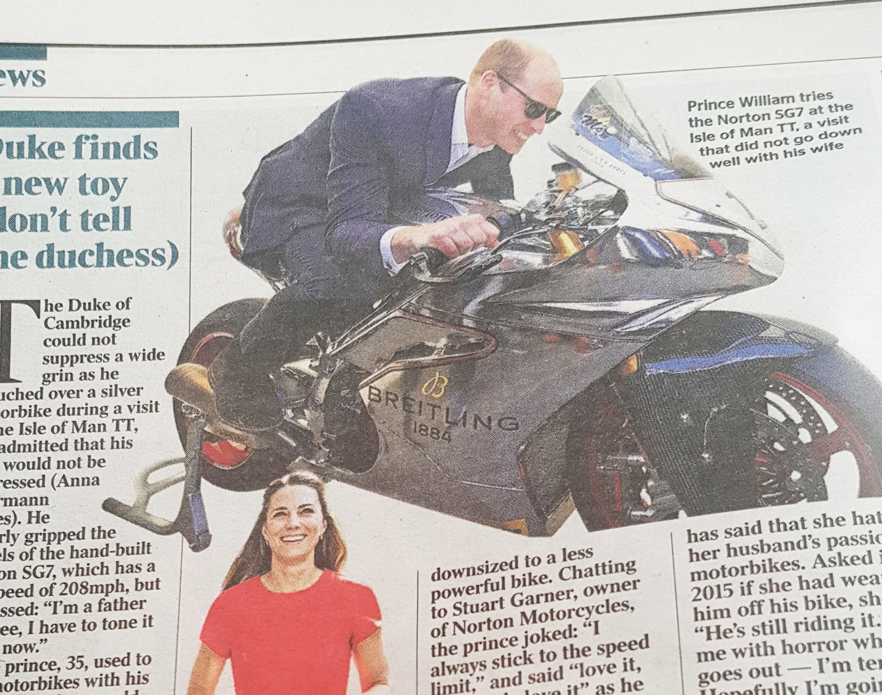 Prince William Breitling The Times