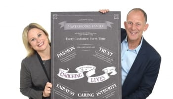 Beaverbrooks MD, Anna Blackburn and Chairman, Mark Adlestone, Holding The Beaverbrooks Way