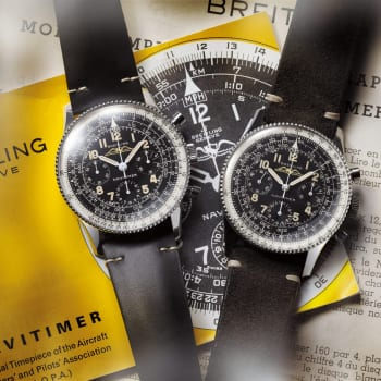02_Navitimer Ref. 806 1959 Re-Edition and the historical Navitimer Ref. 806 from 1959 (left to right)_21694_14-03-19