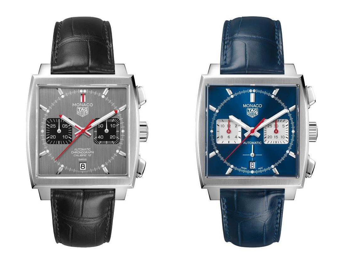 TAG Heuer Monaco Calibre 12 and Heuer 02