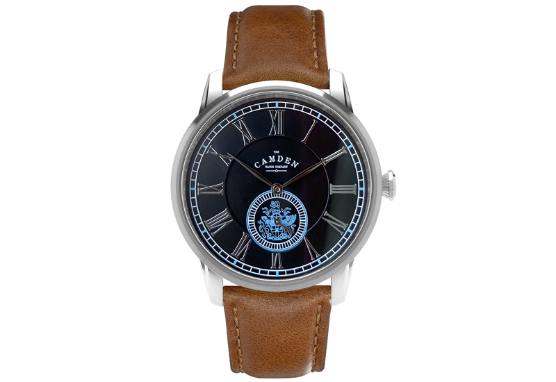 The Camden Watch Company Black and Tan CREST Edition