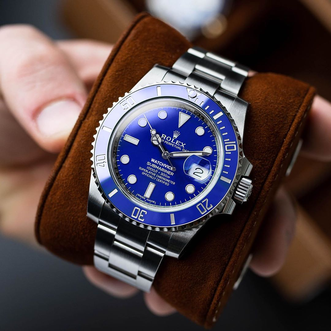 Submariner smurf in steel mock up from Watchvice